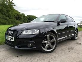 Audi A3 2.0TDI Sportback 2012 BLACK EDITION Diesel Black Manual Hatchback 5 Door