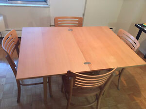 Expanding Table & 4 Matching Chairs