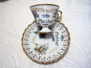 Mothers cup and saucer China ! for Mothers Day !