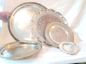 Multiple silver plate platters for various prices!