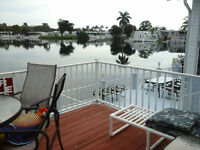 maison mobile Floride , bord de l'eau