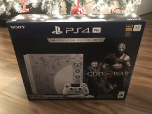 Limited Edition God of War PS4 Pro BRAND NEW in the box SEALED!
