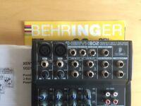 Behringer XENYX 802 8 input 2 bus Mixer