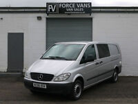 MERCEDES VITO 111 2.2 EXTRA LONG LOW DUALINER CREW MINIBUS DOG COMBI VAN