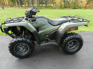 2014 Honda Foreman 500 with Power Steering -- Like New