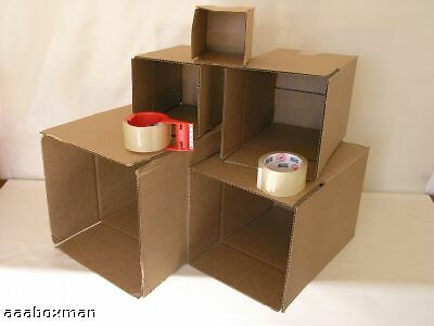 Assorted Brown Boxes 5 Sizes Packaging Shipping Tape