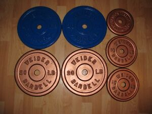 """Vintage Weight Plates (Standard / 1"""" Hole)"""