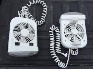 Pair of 12 V Bunk Light and Fan Combo for Tent Trailer