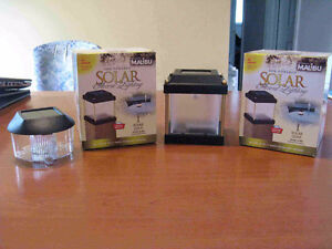 Solar Powered Accent Lighting – Variety – NEW IN BOX!  $5.00 EAC