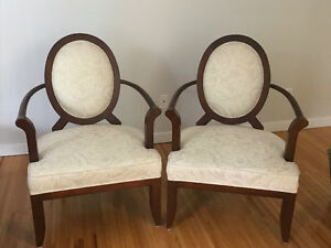 Pair of Bergere Accent Chairs