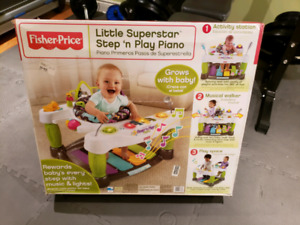 Fisher Price Little Superstar step n play piano