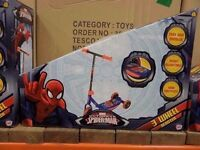 MARVEL ULTIMATE SPIDER MAN 3 WHEEL SCOOTERS.