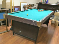 Pool Table, Cue Rack and Accessories