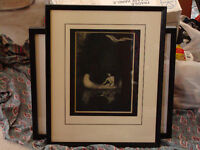 """Indian photgravure """"A silence broken"""" by George Deforest Brush"""