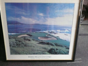 Pebble Beach Golf club  -  framed picture