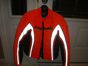 Harley Davidson Women's reflective orange jacket