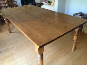 Solid Pine handcrafted harvest table with extension leaf Cambridge Kitchener Area image 1