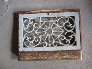 Antique architectural cast decorative heating grates decor