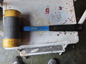 marteau en plomb de 10 lbs avec embout en fibre