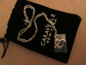 Breast Cancer Ribbon Pendant Necklace by Caravelle New York