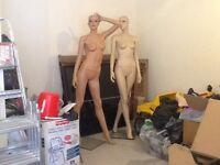 2 full size mannequins
