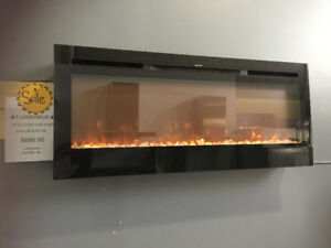 ELECTRIC FIREPLACE WALL OR BUILT IN NEW