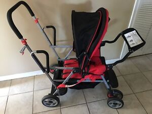 Sit and stand stroller double stroller