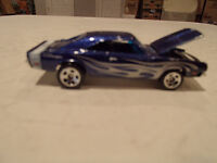 Loose Hot Wheels Blue  '69 Dodge Charger from 10 pack 1/64
