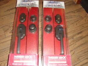 MATCHING PAIR OF QUALITY WEISER DOOR LOCK SETS