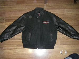 Canada SportsWear Winter Jacket with Leather Sleeves