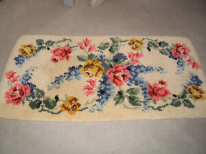 Latch hooked rug