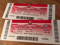 Arsenal Legends Tickets x 2
