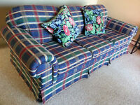 Three-seater sofa with matching love seat in great condition