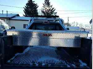 New checker plate tool box