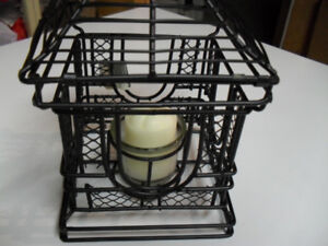 Wire holder with a candle new