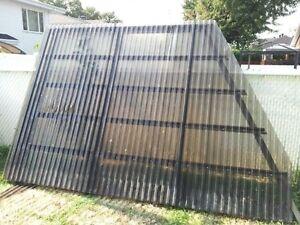 Auvent en aluminium 8X8