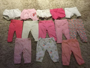 Baby girl 0-3 and 3-6 months pants and shorts