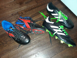 Boys Soccer Cleats.  Size 3 and Size 6