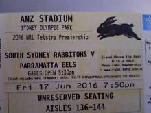 Rabbitohs v Parramatta Eels - 6 adult tickets $15 each Sydney City Inner Sydney Preview