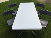 PLASTIC FOLDING TABLES/FOLDING CHAIRS (RENT)