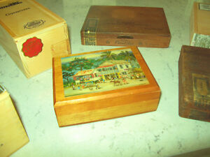 Nine Vintage Cigar Boxes Kitchener / Waterloo Kitchener Area image 9