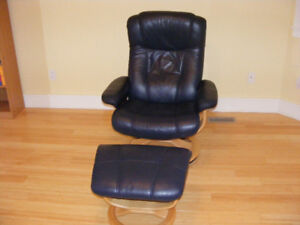 Recliner Swivel Leather Chair