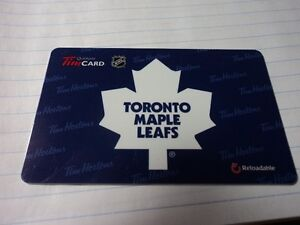 Toronto Maple Leafs Reloadable Tim Card