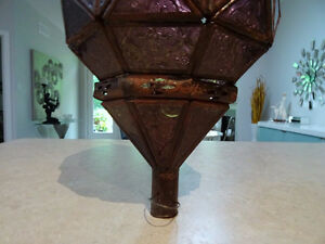 vintage PERSIAN Moroccan PURPLE GLASS pierced hanging lantern Kitchener / Waterloo Kitchener Area image 6