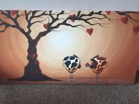 Set of delightful cow canvas pictures