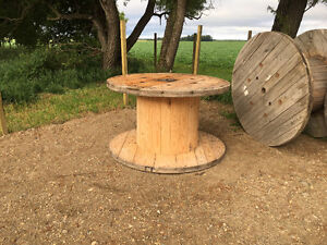 Large Wooden Spools