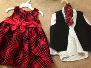wedding or funeral toddler clothes. Girl and boy. 18-24M