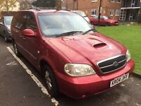 Kia Sedona 2.9 diesel + 1 year MOT + drives excellent