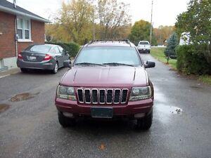 2001 Jeep Grand Cherokee red Sedan