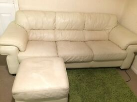 DFS Cream leather sofas !!!VERY CHEAP NEED GONE